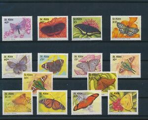 LO44305 St Kitts insects bugs flora butterflies fine lot MNH