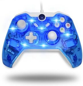 Xbox Wired Afterglow Controller USB Gamepad LED Dual Vibration For Xbox One PC