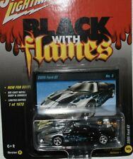 JOHNNY LIGHTNING 2005 FORD GT BLACK & FLAMES STREET FREAKS LIMITED 1 OF 1672