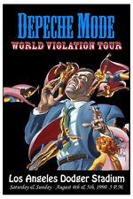 New Wave: Depeche Mode * World Violation Tour * LA Poster 1990 Wide Format 24x36