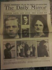 Daily Mirror Newspaper-Nov 29 1919-Plymouth Elects Lady Astor : First Woman M.P.