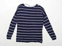 Atmosphere Womens Size 14 Striped Cotton Blend Blue Top (Regular)
