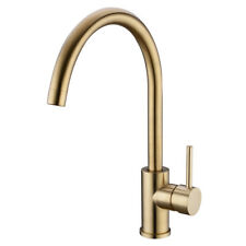 Modern Luxury Kitchen Sink Tap Hot and Cold Mixer Faucet, Brushed Brass Gold