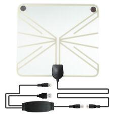 Ultra Thin Flat Indoor HDTV 50-100 Mile Amplified HD TV Transparent Antenna