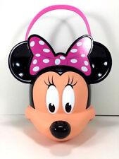 NW Disney MINNIE MOUSE Halloween Candy BUCKET Toy Figure Storage Bin Gift Basket