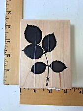 Impression Obsession Rubber Stamp - F8199 Rose Leaf Branch - NEW