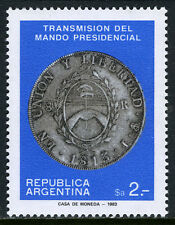 Argentina 1455, Mnh. Return to Elected Government. Coin, 1813, 1983