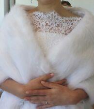 BIANCO COLLEZIONE Sposa Scialle qualsiasi stile di pelliccia caldo di 170 cm di lunghezza