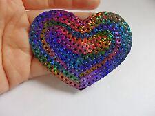 Arco Iris Corazón multicolores Parches Con Lentejuelas Con Lentejuelas Apliques Parche Motivo Hierro en