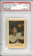 1950 Dutch Gum FLOYD PATTERSON #D18 PSA 6 EX-MT Plain Text HIGHEST GRADED
