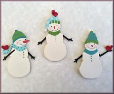 Snowmen with Birds Metal Magnets Set of 3 by Roeda Free U.S. Shipping