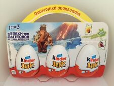 Kinder Surprise Joys Ice Age Eggs 3 pack Toys Kids RARE 2016 CYPRUS/GREECE NEW