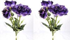 2 x Artificial Purple Lisianthus Flower Bunches