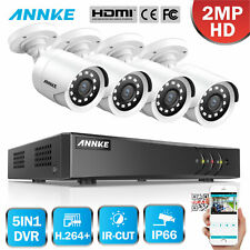 ANNKE 1080P Lite 8CH DVR Full 2MP CCTV Home Security Camera System Night Vision