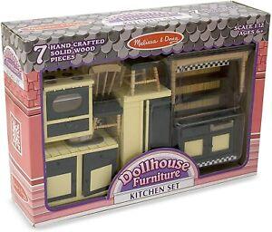 MELISSA & DOUG Dollhouse Furniture - Kitchen Set EUC Scale 1:12