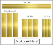 GuitarTechs Luthier BRASS SHIM SET - nut, saddle, neck - full kit 4 all guitars