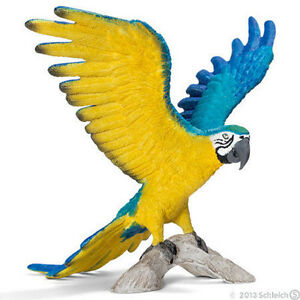 NEW SCHLEICH 14690 Blue & Yellow Macaw - American Wildlife Models RETIRED