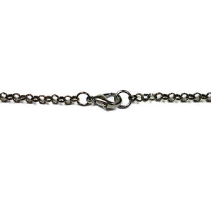 Black Plated Gunmetal 3mm Iron Rolo Assembled Chain Necklace Various Lengths