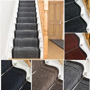 runrug Long Stair Carpet Runner Heavy Duty Washable Modern Bordered Inca