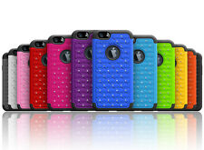 Luxurious Sparkly Studded Bling Diamond Hybrid Case Cover For iPhone 6