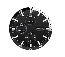 Model 2 ETA 7750 automatic movement dial with luminova Zifferblatt - cadran