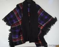 $275 Ralph Lauren Poncho Sweater Open Front Cape Women's sz Small/Medium Blanket