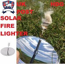 SOLAR FIRE LIGHTER STARTER SURVIVAL ARMY TA BUSHCRAFT EMERGENCY Parabolic Mirror