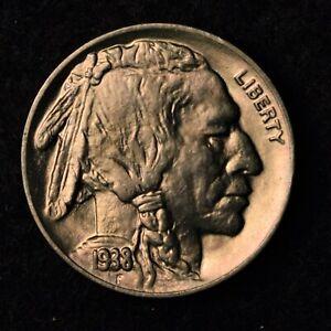 1938-D 5C BUFFALO NICKEL BU BRILLIANT UNCIRCULATED US COIN
