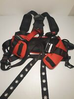 3M PROTECTA Comfort Safety Positioning Harness Black & Red.Used Once or Twice.