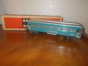 VTG Lionel Electric Blue/Silver Metal Observation Car 1631 Train w/Original Box