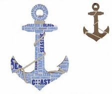 Anchor with Rope Beach Sea Themed Wall Door Plaque Sign Decor Nautical MDF Wood