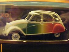 "Citroen  2CV "" Lusitano "" in white with Rainbow sides IXO   1:43 rd  New item"