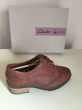 Women Clark Ladies  Tan Leather Shoes Size UK 6.5/ 5.5 & 7