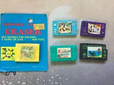 LCD HANDHELD GAMES Vintage Erasers Lot x5 RARE