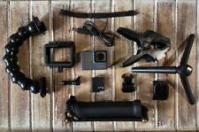 GoPro HERO5 Black Camera HD 4K CHDHX-501 Hero 5 + Jaws Clamp + 3-Way Arm