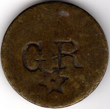Rare Countermarked 1 1/2 GR With Star Token Coin***Collectors***