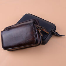 Men Leather Waist Bag Fanny Pack Wallet Purse Cell Phone Case Belt Pouch Pocket