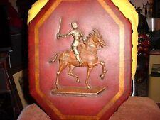 JOAN OF ARC ON HORSE BACK IN FULL ARMOR ~~~~~  ESTATE WALL ITEM