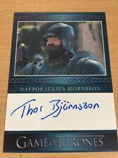 Game Of Thrones Season 5 Thor Bjornsson As Gregor Clegane Autograph Card