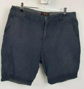 Mooks Blue Grey Walk Shorts Sz 36