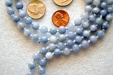 Mantra Beads, Gemstone Mala, Buddhist  Beads Aquamarine Mala - Gemstone for Wome