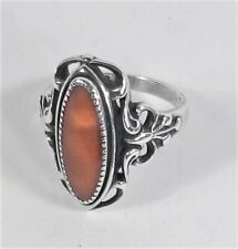 Wheeler Manufacturing - Sterling Silver Butterscotch Amber Ring - Size 7 1/4