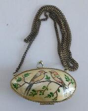 altes Muschel-Portemonnaie  Muscheldose antik @  Perlmutt @ mit Kette