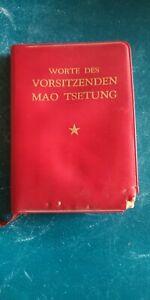 Worte des Vorsitzenden Mao Tse-Tung China Mao Bibel 1972 Mini m. Beschädigung