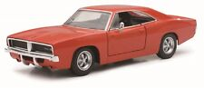 NEW RAY 1969 DODGE CHARGER R/T HARD TOP 1/24 DIECAST CAR ORANGE NEW 71893A