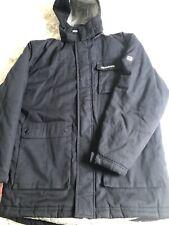 BNWOT para Hombre Reebok Cálido Abrigo Azul Marino De tamaño mediano