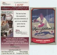 1988 Pacific Harvey Haddix Signed Autographed Card JSA COA Cardinals
