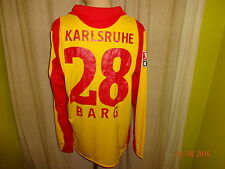"Karlsruher SC Jako Langarm Matchworn Trikot 2007/08 ""EnBW"" + Nr.28 Barg Gr.XL"