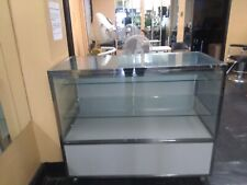 Glass Display Showcase - 2 glass shelves, under storage space, lighted case