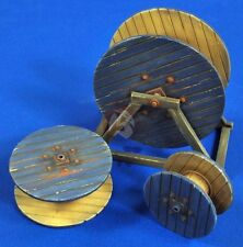 Verlinden 1/35 Wooden Cable Reels (3 different sizes) [Diorama Accessory] 2738
